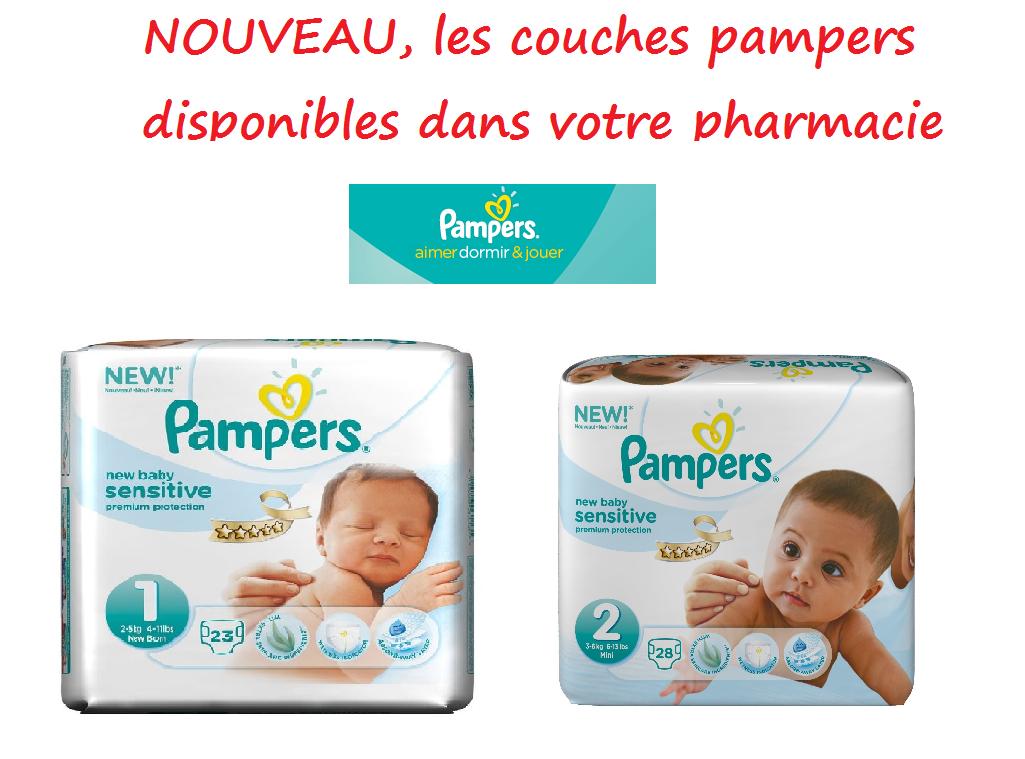Pharmacie de rohan vannes actualit s nouveaut pampers couche 1ers ages - Couches pampers sensitive ...