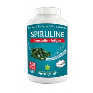 Phyto-actif SPIRULINE 500mg  (500 comprimés)