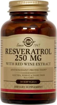 Solgar RESVERATROL 250mg (30 gélules, soit 30 jours de cure)
