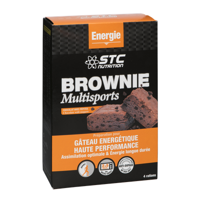 STC Nutrition BROWNIE MULTISPORT (400g, soit 2 à 4 portions)