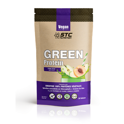 STC Nutrition GREEN PROTEIN pomme-pêche (500g)