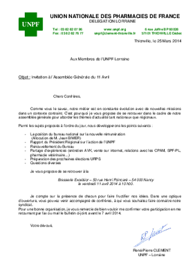 Assemblée Générale UNPF Lorraine