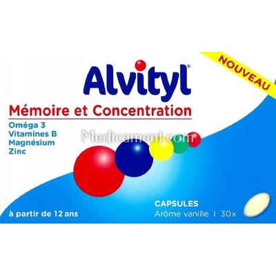 ALVITYL MEMOIRE CONCENTRATION 30 capsules