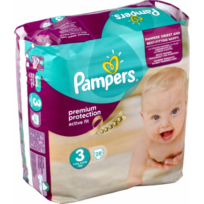 COUCHES PAMPERS ACTIVE FIT 4-9KG PAQUET 28