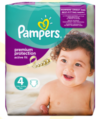 PAMPERS COUCHES ACTIVE FIT 7-18KG PAQUET 24