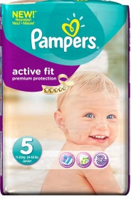 PAMPERS COUCHES ACTIVE FIT 11-25KG PAQUET 20