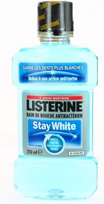 LISTERINE B/BOUC STAY WHITE 250ML