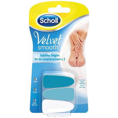 SCHOLL VELVET SMOOTH SUBLIME ONGLES KIT DE REMPLACEMENT X3