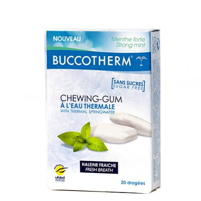 BUCCOTHERM CHEWING-GUM EAU THERMALE BTE 20