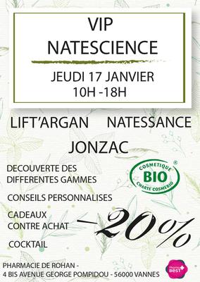 VIP NATESCIENCE JEUDI 17 JANVIER 2019