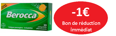 BEROCCA 30 COMPRIMES S/SUCRE GOÛT ORANGE