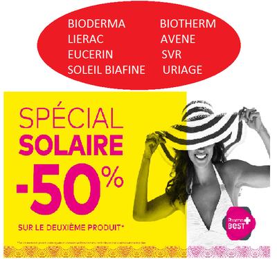 1 SOLAIRE ACHETE = 2EME A 50%