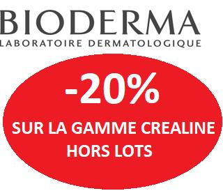 BIODERMA CREALINE -20% HORS LOTS
