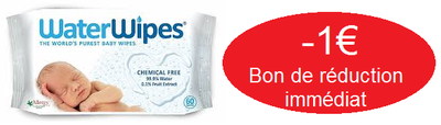 WATERWIPES LINGETTES x60