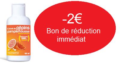 NUTRISANTE EXTRAIT DE PEPINS PAMPLEMOUSSE 200ML -2€