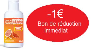 NUTRISANTE EXTRAIT DE PEPINS PAMPLEMOUSSE 100ML -1€