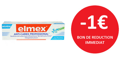 ELMEX ANTI-CARIES JUNIOR 75 ML -1€