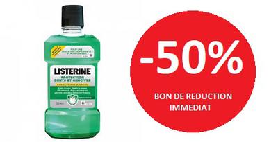LISTERINE BAIN DE BOUCHE PROTECTION GENCIVE -50%