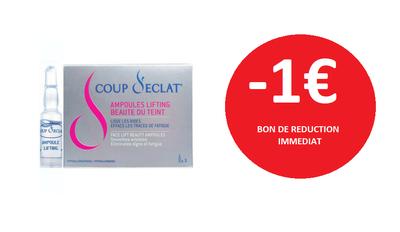 COUP D'ECLAT 3 AMPOULES -1€