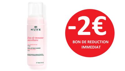 NUXE EAU DE MOUSSE MICELLAIRE -2€