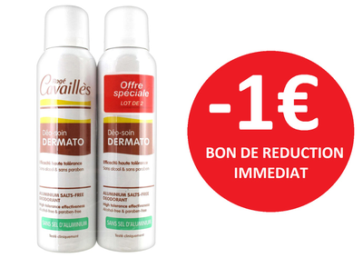 ROGE CAVAILLES DUO DEODORANTS DERMATO -1€