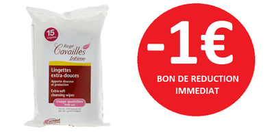 ROGE CAVAILLES LINGETTES INTIMES -1€