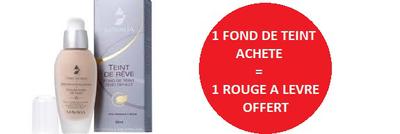 MAVALA 1 FOND DE TEINT ACHETE = 1 ROUGE A LEVRE OFFERT