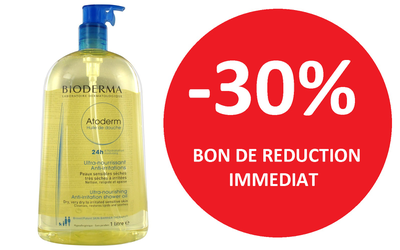 BIODERMA HUILE DE DOUCHE 1L -30%