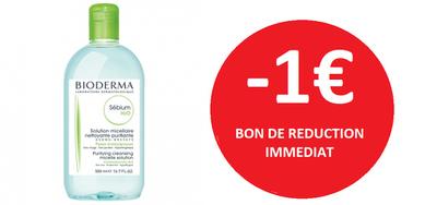 BIODERMA SEBIUM H2O 500 ML -1€