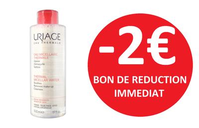 URIAGE EAU MICELLAIRE PEAUX SENSIBLES A ROUGEUR 500ML -2€