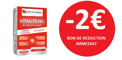 FORTE PHARMA VITALITE 4G 20 AMPOULES -2€