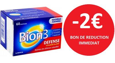 BION 3 DEFENSE ADULTE 60 COMPRIMES -2€