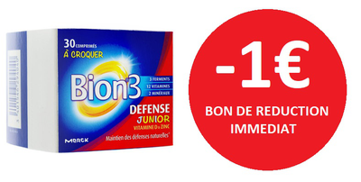 BION 3 DEFENSE JUNIOR 30 COMPRIMES -1€