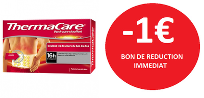 THERMACARE PATCH DOS ET PATCH NUQUE  X2 -1€