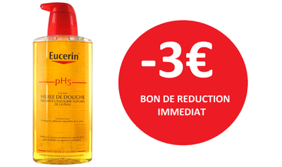 EUCERIN HUILE DE DOUCHE 400 ML -3€