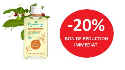 PURESSENTIEL HUILE DE MASSAGE -20%