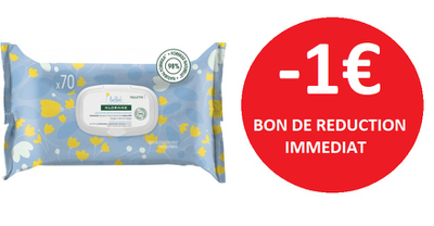 KLORANE LINGETTES BEBE -1€