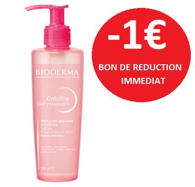 BIODERMA CREALINE GEL MOUSSANT 200 ML -1€
