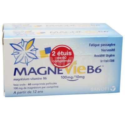 MAGNEVIE B6 100MG/10MG CPR 120