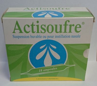 ACTISOUFRE AMP BUV NAS 10ML 18