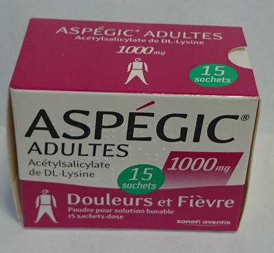 ASPEGIC 1 000MG ADULTE SACHET 15