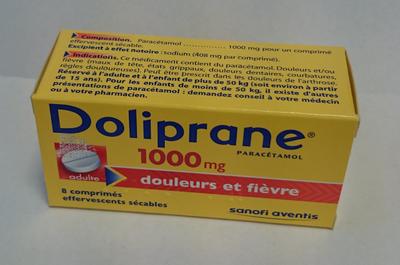 DOLIPRANE 1 000MG CPR EFF SEC 8