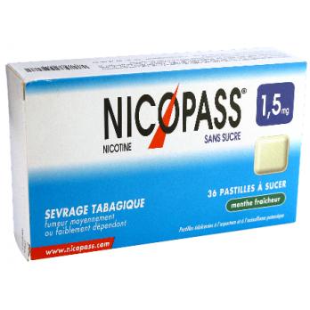 NICOPASS 1,5MG S/S MENTHE PAST 36