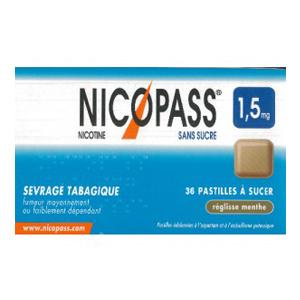 NICOPASS 1,5MG S/S REGLISSE PAST36