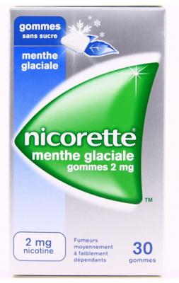 NICORETTE 2MG GOM MENT GLAC S/S30