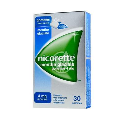 NICORETTE 4MG GOM MENT GLAC S/S30