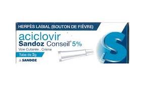 ACICLOVIR 5% SANDOZ CRèME TUBE DE 2G