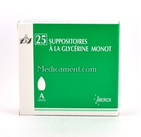 25 SUPPOSITOIRES A LA GLYCERINE ADULTE MONOT