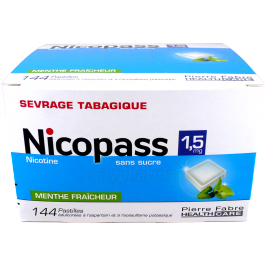 NICOPASS 1,5MG S/S MENTHE PAST 144