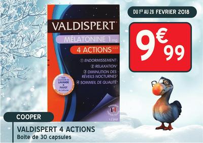 VALDISPERT MELATON 4 ACTION CAPS30